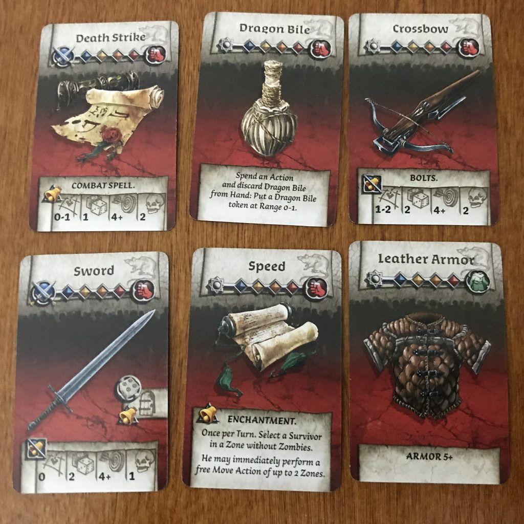 Zombicide Black Plague weapons