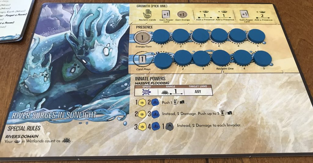 Spirit Island Player Board